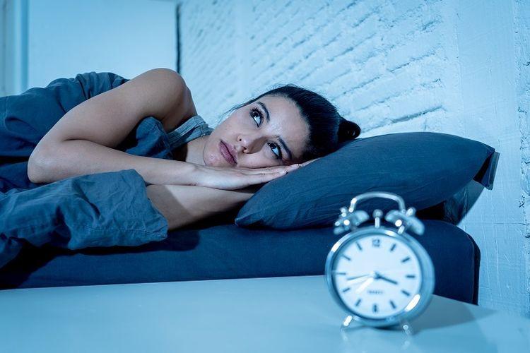 Ilustrasi sulit tidur di malam hari