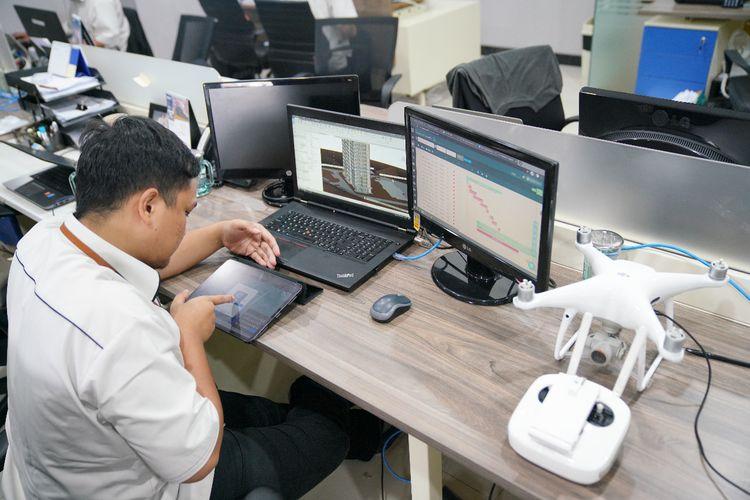 Insan Abipraya menerapkan BIM dengan workflow mulai dari reality modeling dengan memanfaatkan foto udara dari drone.