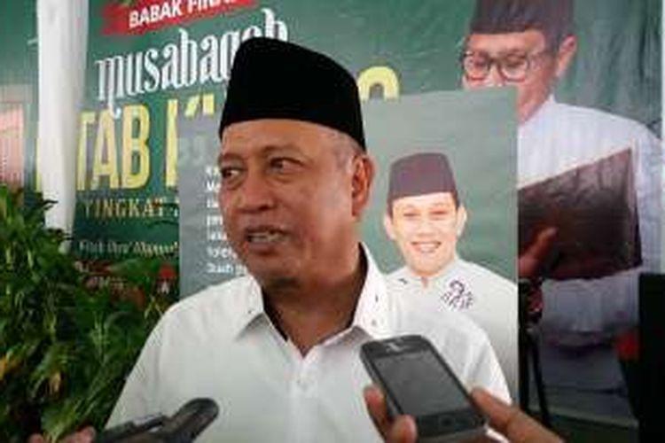 Menteri Riset Teknologi dan Pendidikan Tinggi Muhammad Nasir di Kantor DPP PKB, Jalan Raden Saleh, Jakarta Pusat, Selasa (12/4/2016)