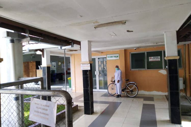 Ruang Tulip di RSUD Abdul Wahab Syaharie, Samarinda, Kalimantan Timur, disiapkan sebagai ruang isolasi bagi pasien yang mengidap virus menular,  Senin (27/1/2020).