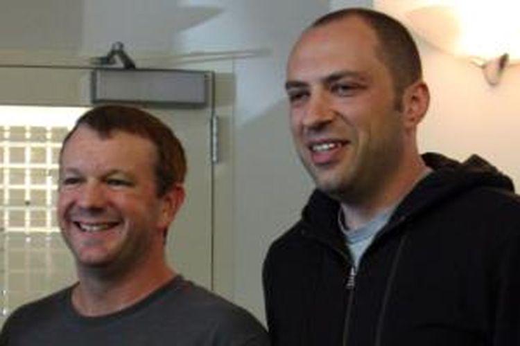 Brian Acton dan Jan Koum, dua pendiri WhatsApp