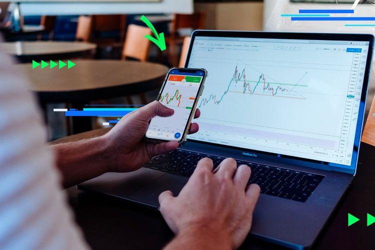 Ilustrasi trading forex.