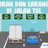 INFOGRAFIK: Aturan dan Larangan di Jalan Tol