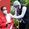 Jokowi Terlihat Kenakan Singlet Saat Disuntik Vaksin Covid-19 Dosis Kedua