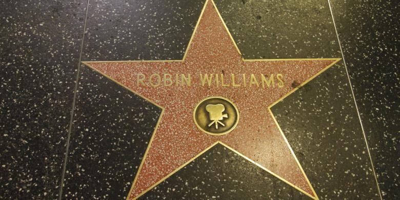 Bintang Robin Williams di Hollywood Walk of Fame, California, AS