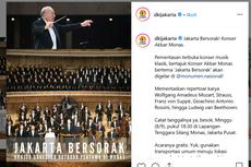 Minggu Malam, Konser Orkestra Jakarta Bersorak Digelar di Monas