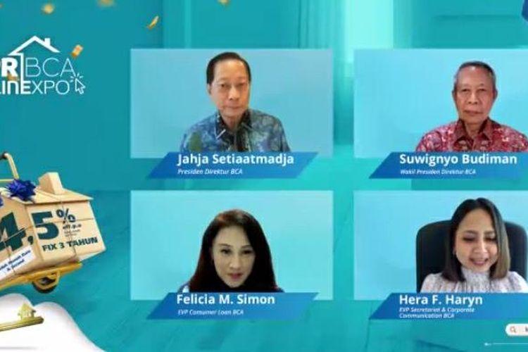 Konferensi pers KPR BCA Onlinexpo yang bakal berlangsung mulai 9 September 2021 hingga 10 Oktober 2021. Konferensi pers berlangsung secara virtual, di Jakarta, Rabu (8/9/2021).