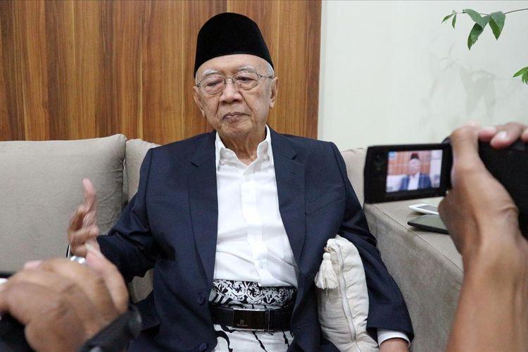 KH. Salahuddin Wahid, saat ditemui di Pengasuh Pesantren Tebuireng Jombang Jawa Timur, Jum'at (28/6/2019).