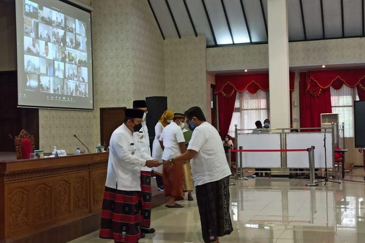 Penunjukan pelaksana tugas (Plt) oleh bupati Jember pada 631 aparatur sipil negara (ASN) di lingkungan Pemkab Jember