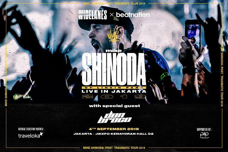 Mike Shinoda, rapper dan pemain keyboard Linkin Park, akan menggelar konser di Jakarta pada 4 September 2019.