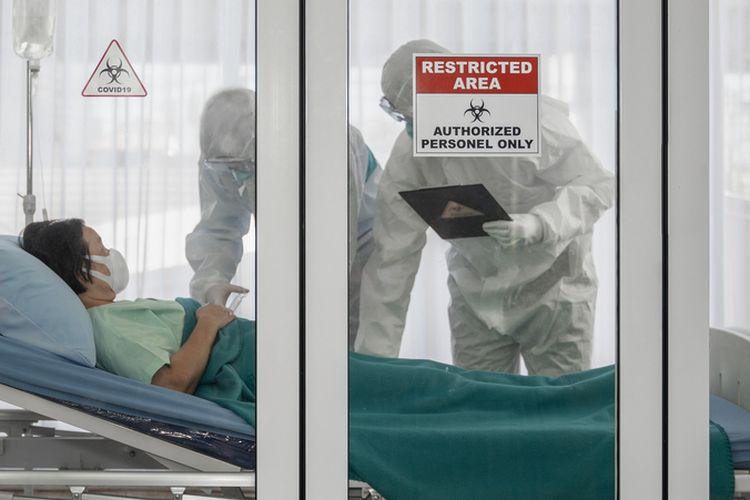 Ilustrasi: perawatan pasien positif terinfeksi virus corona