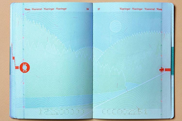 Paspor Norwegia terbaru yang mengusung tema lanskap negara tersebut.