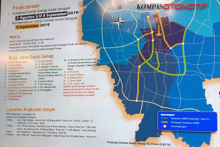 Ruas perluasan ganjil genap di DKI Jakarta