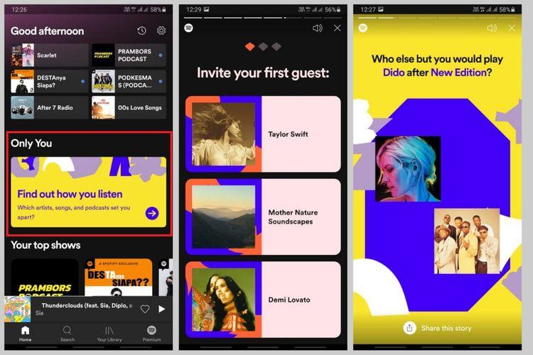 Cara membuat Spotify Only You dan membagikannya ke media sosial