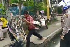Kronologi Pria di Riau Banting Sepeda Motor karena Tak Terima Ditilang Polisi