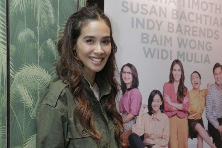 Marsha Timothy dalam jumpa pers perkenalan tokoh film Bebas di kawasan Antasari, Jakarta Selatan, Jumat (10/5/2019).