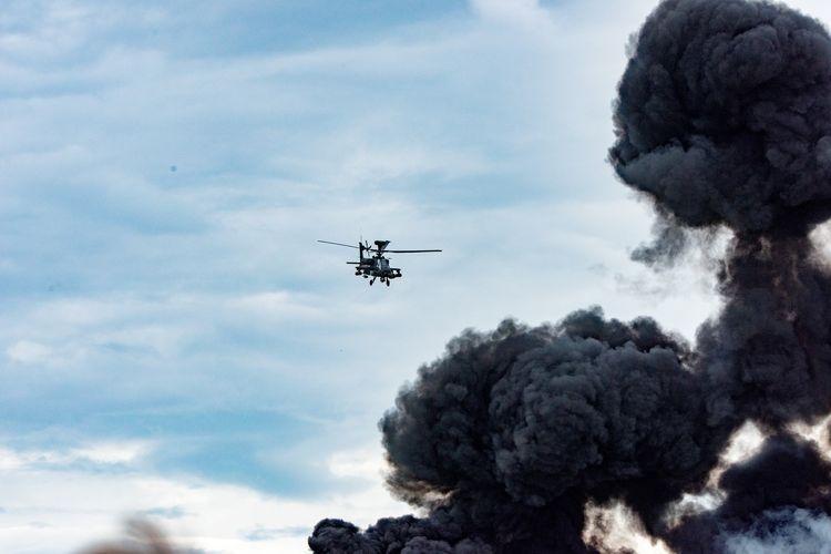 Ilustrasi serangan helikopter.