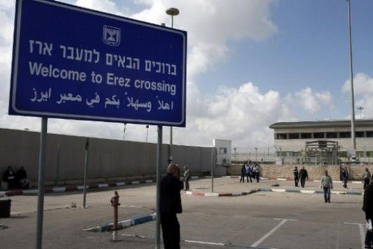 Pintu perbatasan Erez yang menghubungkan Jalur Gaza dan Israel.
