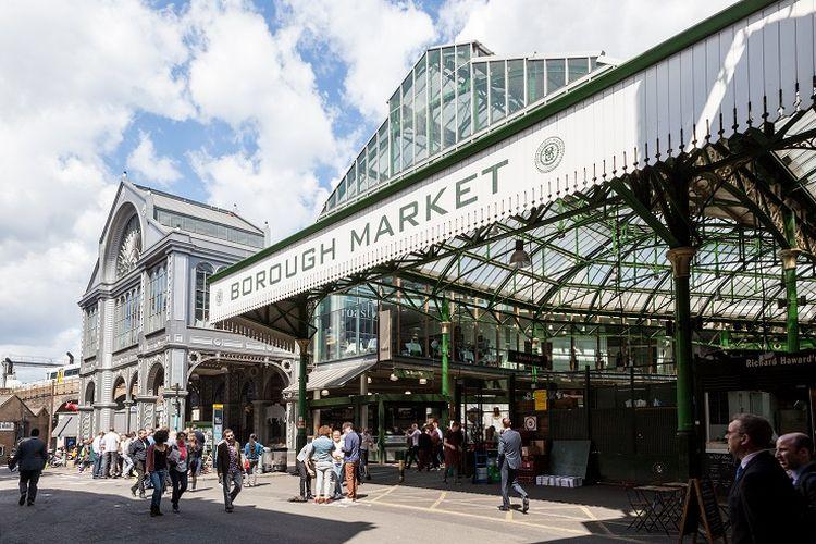 Ilustrasi Borough Market, London.