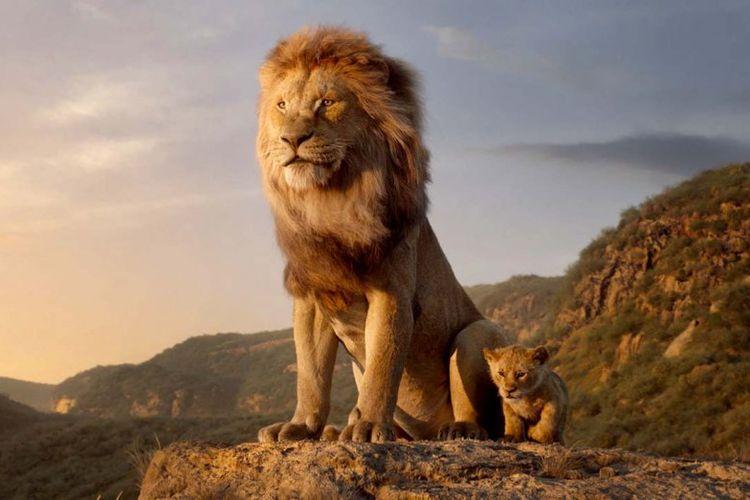 Salah satu potongan adegan remake animasi The Lion King produksi Disney.