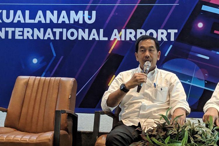 Direktur Utama PT Angkasa Pura II Muhammad Awaluddin saat ditemui di Terminal 3 Bandara Soekarno-Hatta, Senin (10/2/2020).