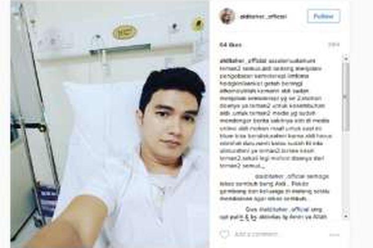 Artis peran Aldi Taher dirawat di rumah sakit untuk menjalani kemoterapi karena kanker kelenjar getah bening yang dideritanya.