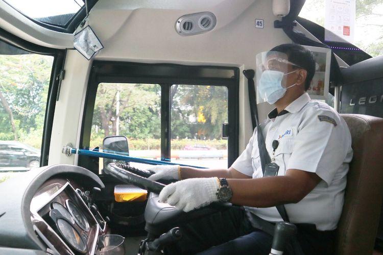 Protokol kesehatan pengemudi bus Damri