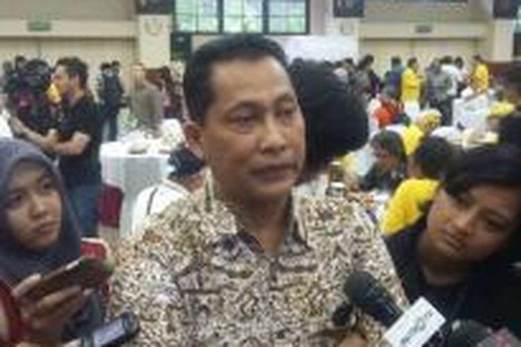 Kepala Bareskrim Polri Komisaris Jenderal Budi Waseso, saat ditemui di Ruang Rapat Utama Mabes Polri, Minggu (22/2/2015).