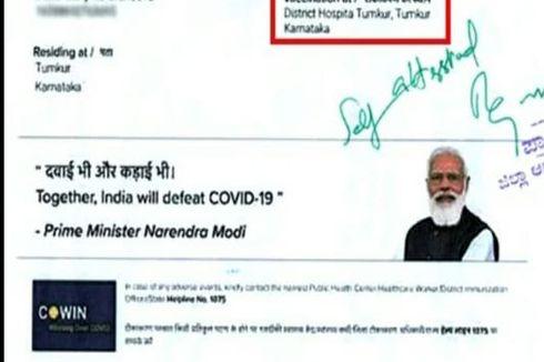 "Warga India Protes Ada Foto Perdana Menteri Modi ""Mejeng"" di Sertifikat Vaksin Covid-19"