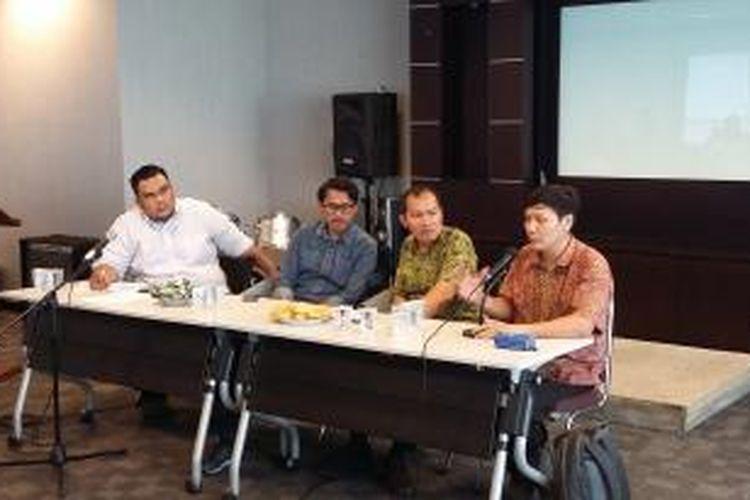 Diskusi Gerakan Mahasiswa Kristen Indonesia, di Gedung PGI, Jakarta Pusat, Jumat (4/9/2015).
