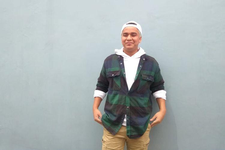 Presenter Billy Syahputra saat ditemui usai tampil di salah satu acara stasiun televisi swasta di kawasan Mampang, Jakarta Selatan, Rabu (20/3/2019).