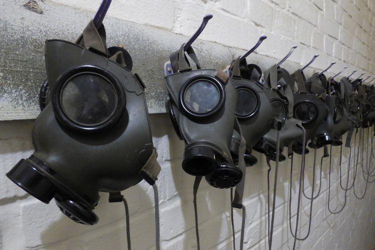 Ilustrasi masker gas