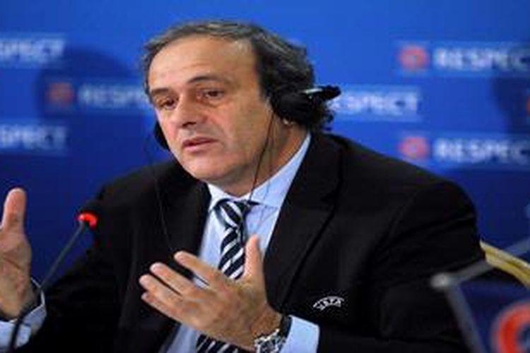Presiden UEFA, Michel Platini.
