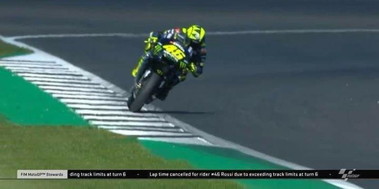 Catatan waktu Valentino Rossi di FP2 MotoGP Inggris nyaris dibatalkan