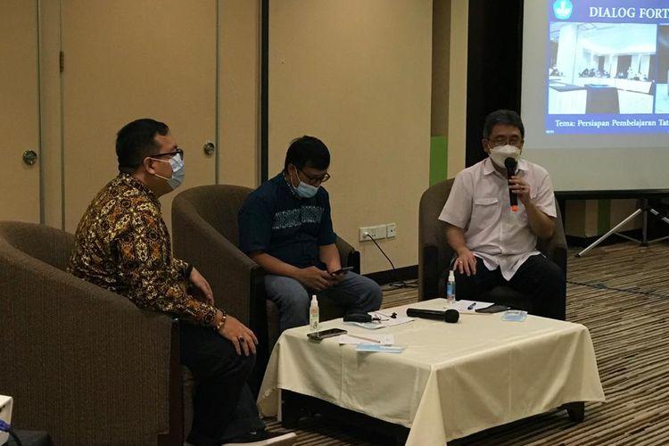 Diskusi Pendidikan yang digelar Forum Wartawan Pendidikan dan Kebudayaan di Bogor, 16-18 April 2021.