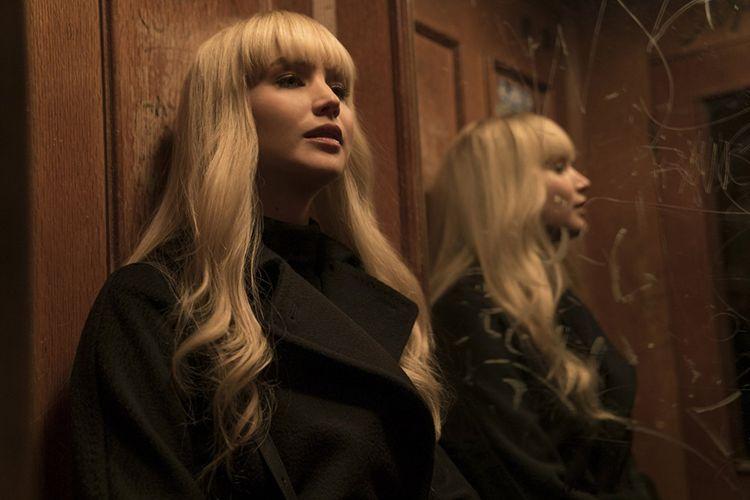 Jennifer Lawrence bermain dalam film Red Sparrow.