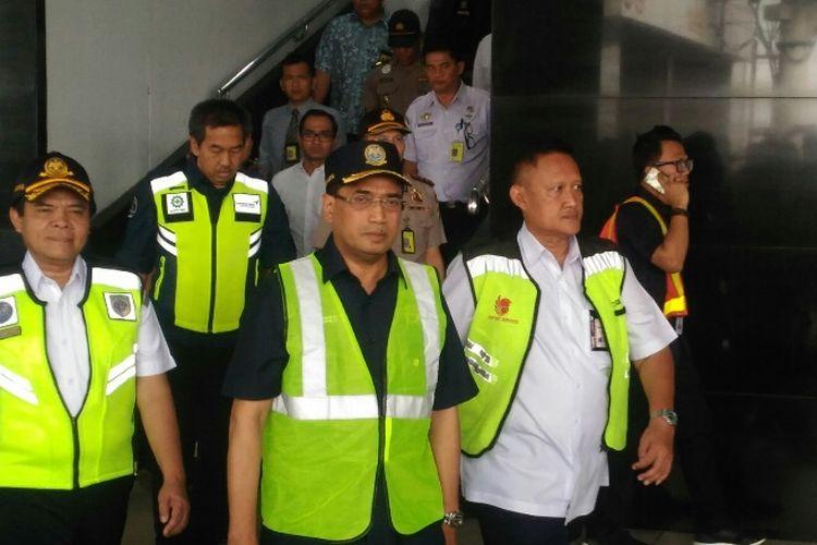 Menhub Budi Karya Sumadi di Bandara Soekarno-Hatta, Minggu (3/6/2018).