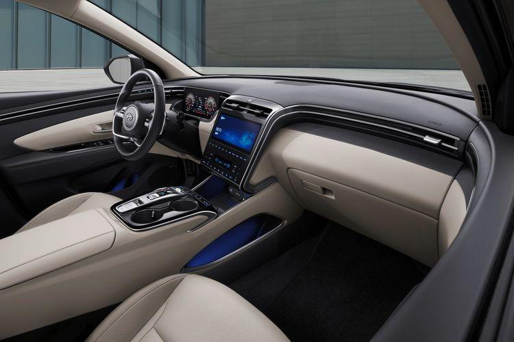 Desain interior Hyundai Tucson generasi terbaru.