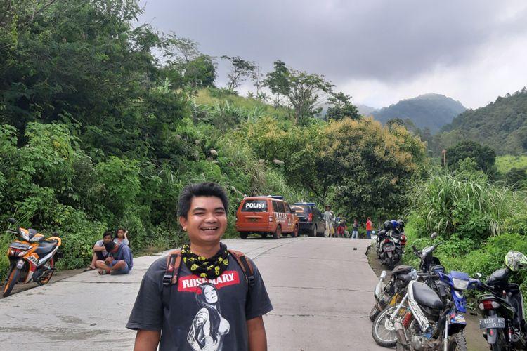 Ketua Komunitas Pecinta Alam SCBR Sumedang Ridwan Feri Permana di Pos 1 Gunung Tampomas, Minggu (3/3/2019).