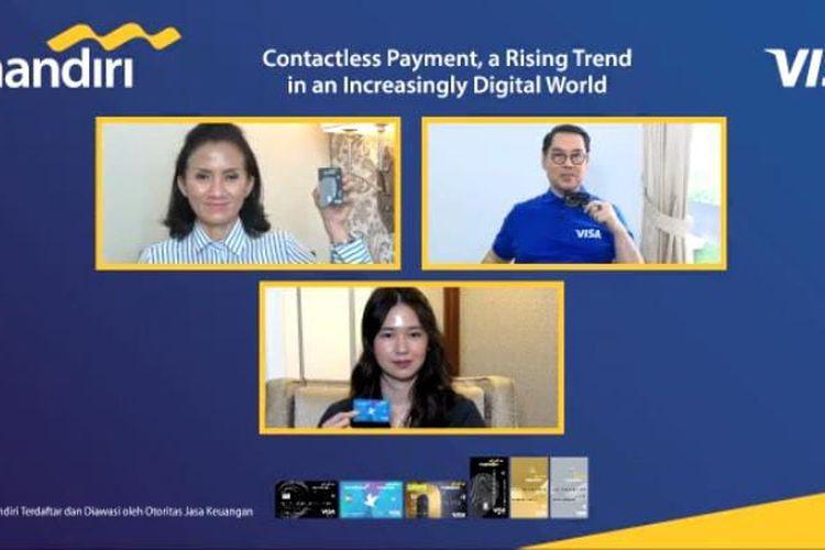 jumpa pers virtual Bank Mandiri dan Visa , Kamis (17/9/2020). (Tangkapan Layar)