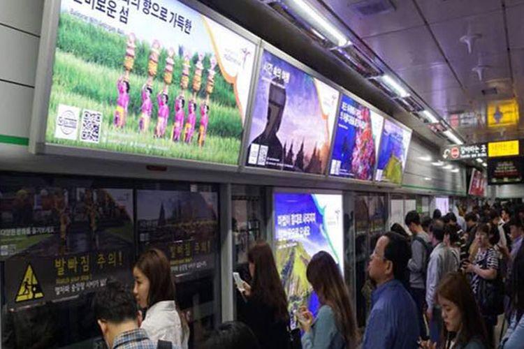 Kemenpar memasang branding Wonderful Indonesia di dua kota besar di Korsel, yakni Seoul dan Busan.