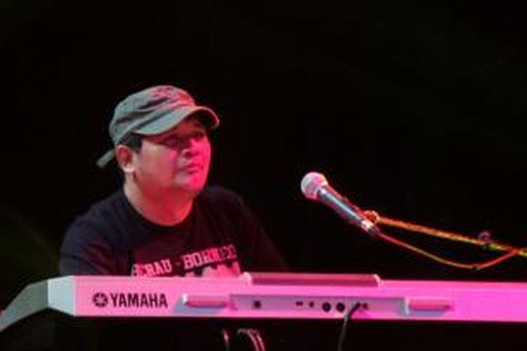 Idang Rasjidi tampil di Java Jazz, Semeru Straight aHead Jazz Hall, Jakarta International Expo (JIExpo), Kemayoran, Jakarta Pusat pada Sabtu (7/3/2015) malam.