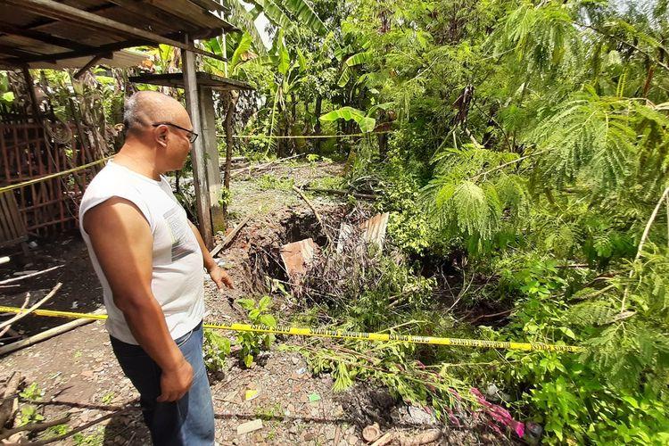 Sumur Milik Ngatini, Warga Desa Gedangrejo, Kecamatan Karangmojo, Gunungkidul, yang Ambles Rabu (8/4/2020)