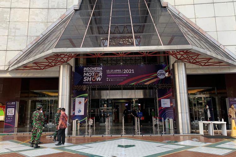 Ilustrasi suasana IIMS Hybrid 2021 di JIExpo Kemayoran, Jakarta.