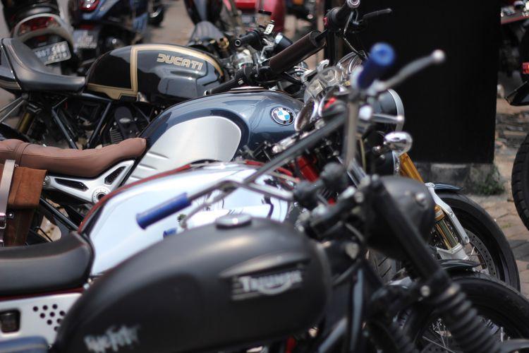 Sederetan motor gede (moge) yang ikut meramaikan Distinguished Gentlemans Ride (DGR), Minggu (30/9/2018).
