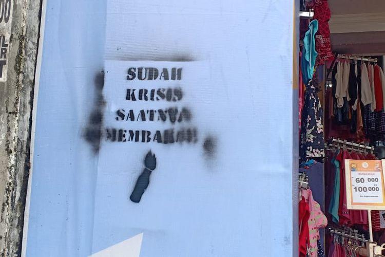 Tulisan provokatif muncul di Kota Tangerang, Jumat (10/4/2020)