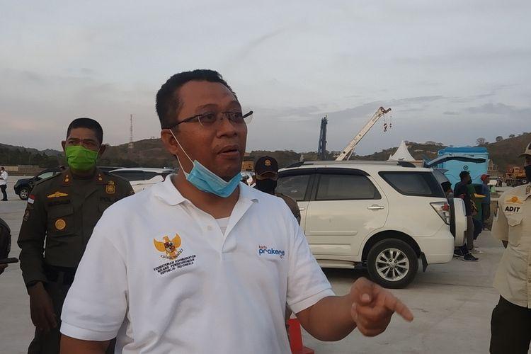 Suasana pemantauan sirkuit Mandalika Lombok oleh Menko Perekonomian Airlangga Hartarto dan Gubernur NTB