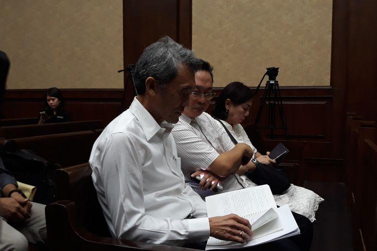 Mantan petinggi Lippo Group, Eddy Sindoro di Pengadilan Tipikor Jakarta, Senin (7/1/2019).