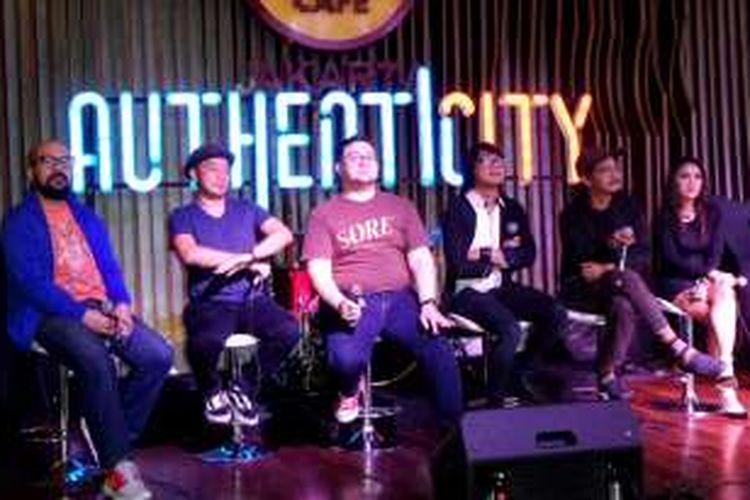 Suasana jumpa pers konser Authenticity di Hard Rock Cafe, SCBD, Jakarta Selatan, Jumat (5/8/2016).