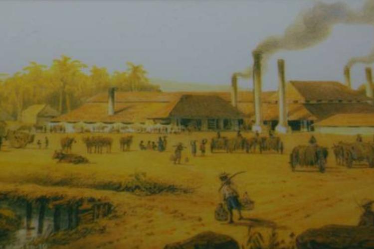 Ilustrasi aktivitas petani masa VOC